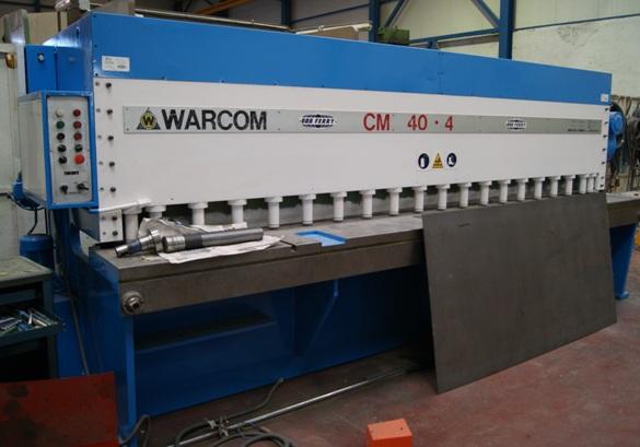 Cizalla hidráulica Warcom CM-40.4 de 4.000x4mm