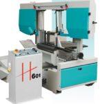 Sierra de cinta semiautomática de doble columna H601