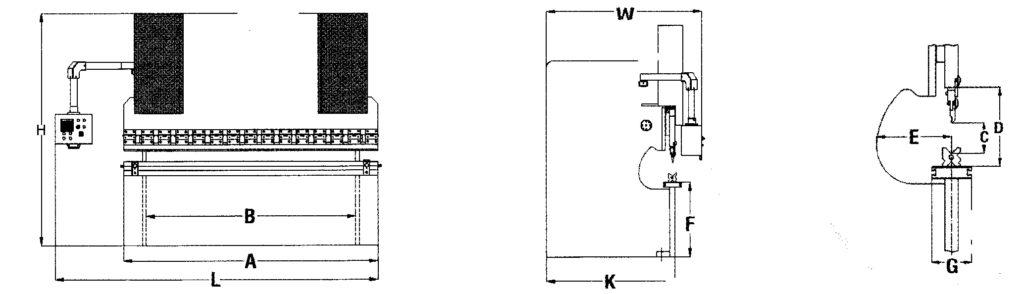 Plegadora Ermak PPE_Dimensiones