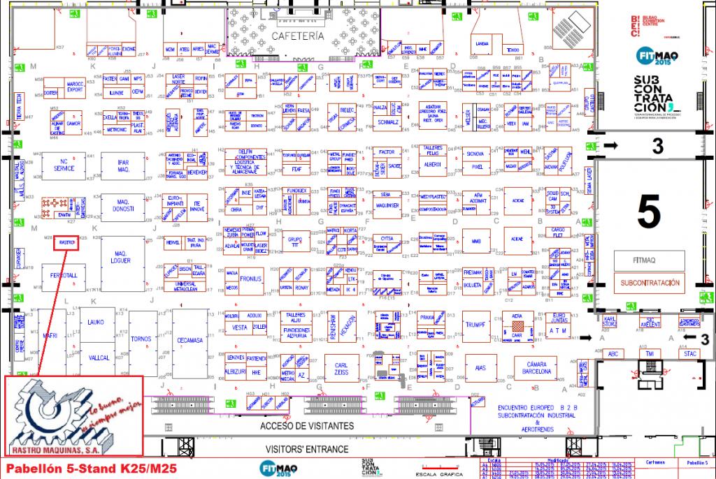 Plano Rastro Máquinas en Fitmaq 2015