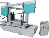 Sierra de cinta semiautomática H700 de doble columna